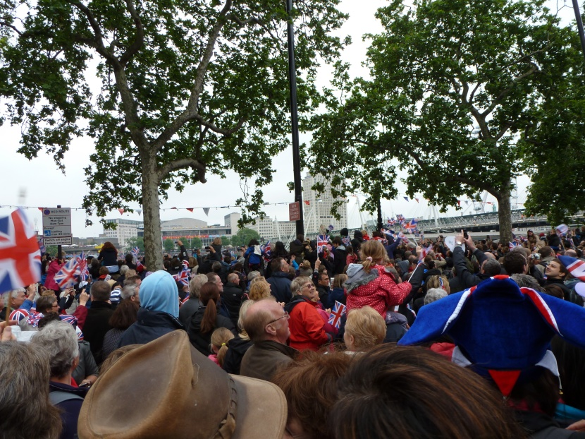 At Embankment for Diamond Jubilee and Loving it (Copyright Hearing Wellbeing 2012)